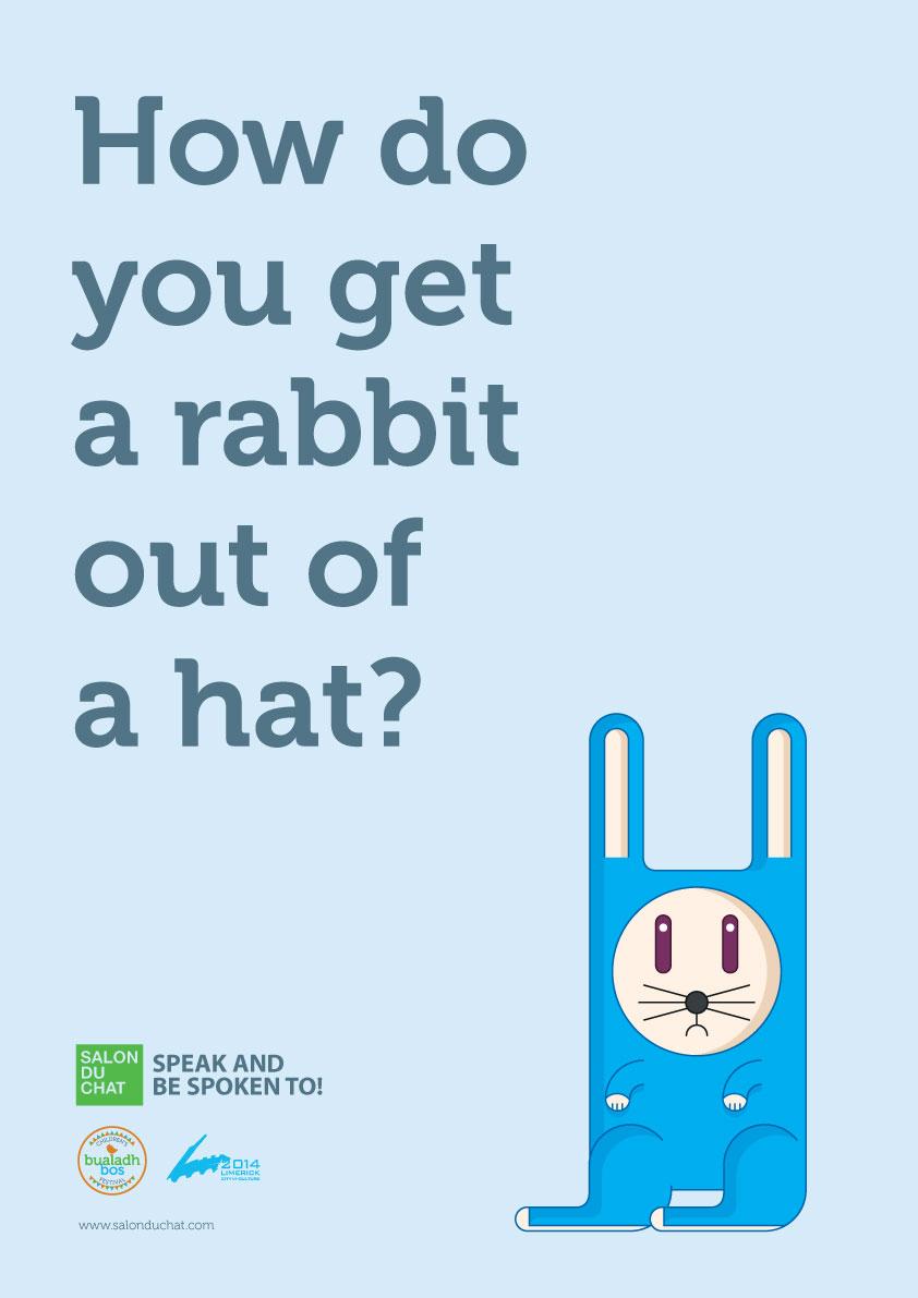 Rabbit Poster for Salon du Chat for Kids