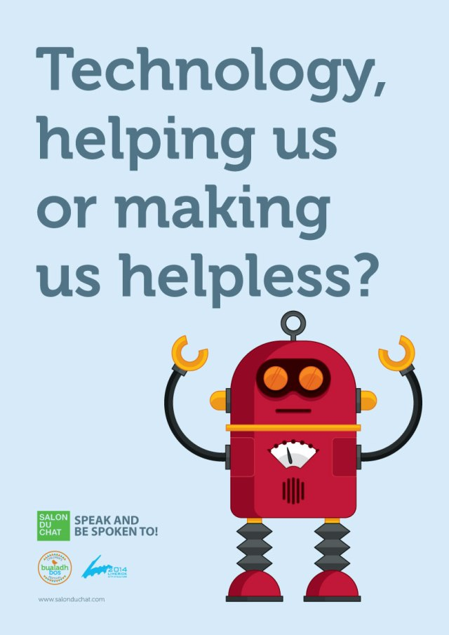 Robot Poster for salon du Chat for Kids