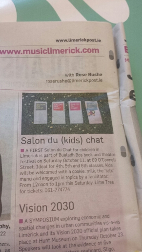 Salon du Chat for kids Limerick post article